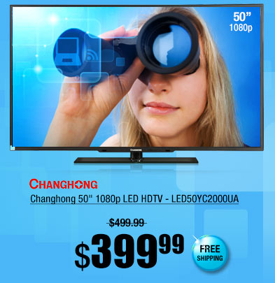 "Changhong 50"" 1080p LED HDTV - LED50YC2000UA"