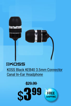 KOSS Black KEB40 3.5mm Connector Canal In-Ear Headphone