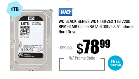 WD BLACK SERIES 1TB 7200 RPM 64MB Cache SATA 6.0Gb/s 3.5 inch Internal Hard Drive