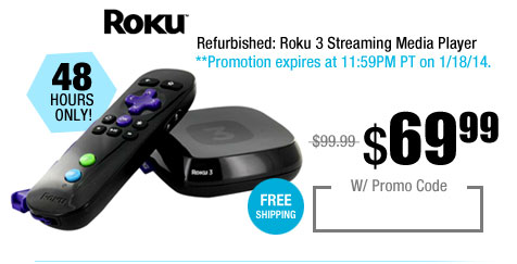 Refurbished: Roku 3 Streaming Media Player