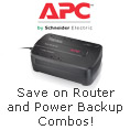 apc - save on router and power backup combos