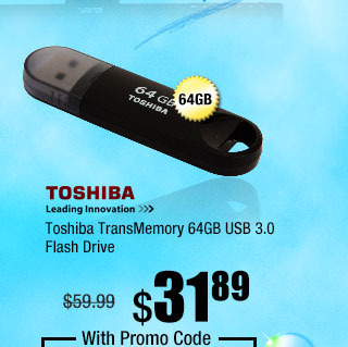 Toshiba TransMemory 64GB USB 3.0 Flash Drive