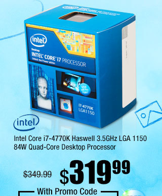 Intel Core i7-4770K Haswell 3.5GHz LGA 1150 84W Quad-Core Desktop Processor