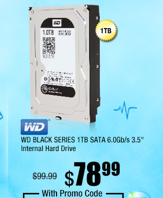 "WD BLACK SERIES 1TB SATA 6.0Gb/s 3.5"" Internal Hard Drive"