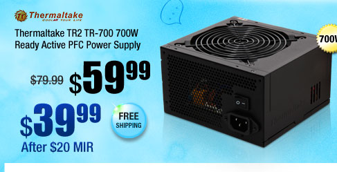Thermaltake TR2 TR-700 700W Ready Active PFC Power Supply