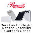 more fun on-the-go with the rosewill powerbank series.