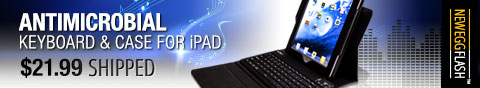 antimicrobial keyboard and case for ipad