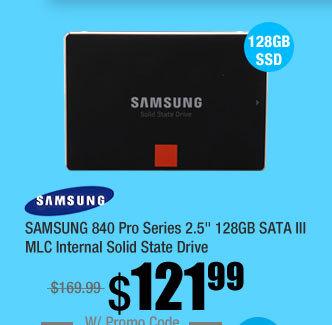 "SAMSUNG 840 Pro Series 2.5"" 128GB SATA III MLC Internal Solid State Drive"