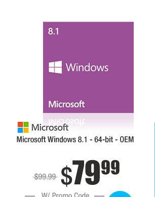 Microsoft Windows 8.1 - 64-bit - OEM