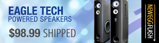 Eagle Tech powered speakers 98.99 usd shipped