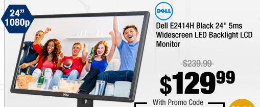 "Dell E2414H Black 24"" 5ms Widescreen LED Backlight LCD Monitor"