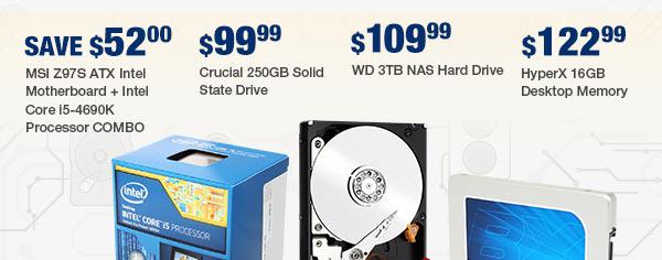 MENU: Intel Core i7-5820K Desktop Processor Crucial 512GB Solid State Drive