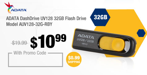 ADATA DashDrive UV128 32GB Flash Drive Model AUV128-32G-RBY