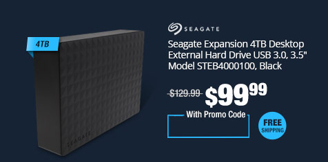 "Seagate Expansion 4TB Desktop External Hard Drive USB 3.0,  3.5"" Model STEB4000100, Black"