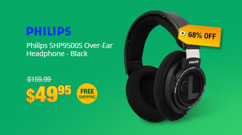 Philips SHP9500S Over-Ear Headphone - Black