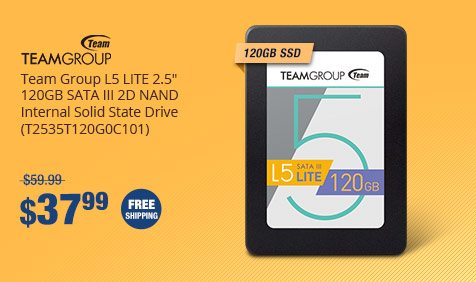 "Team Group L5 LITE 2.5"" 120GB SATA III 2D NAND Internal Solid State Drive (T2535T120G0C101)"