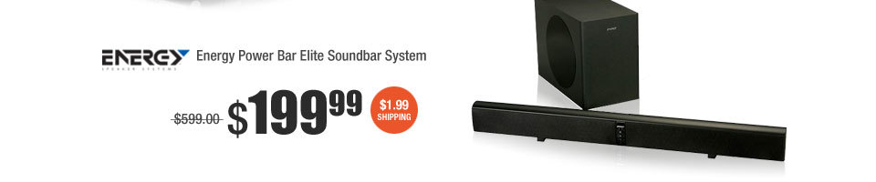 Energy Power Bar Elite Soundbar System