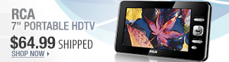 Newegg Flash - RCA 7 inch Portable HDTV