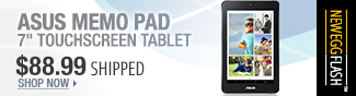 NeweggFlash - ASUS MEMO PAD 7 inch Touchscreen Tablet