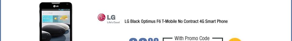 LG Black Optimus F6 T-Mobile No Contract 4G Smart Phone