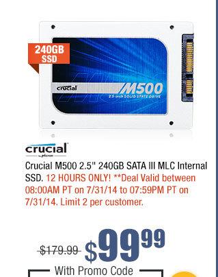 "Crucial M500 2.5"" 240GB SATA III MLC Internal SSD"