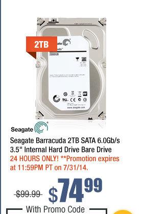 "Seagate Barracuda 2TB SATA 6.0Gb/s 3.5"" Internal Hard Drive Bare Drive"