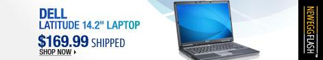 "Newegg Flash - Dell Latitude 14.2"" Laptop."