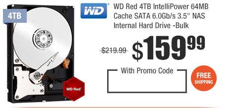 "WD Red 4TB IntelliPower 64MB Cache SATA 6.0Gb/s 3.5"" NAS Internal Hard Drive -Bulk"