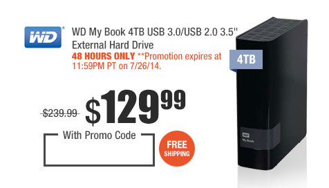 """WD My Book 4TB USB 3.0/USB 2.0 3.5"""" External Hard Drive"""