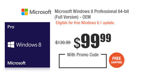 Microsoft Windows 8 Professional 64-bit (Full Version) - OEM