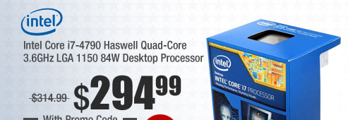 Intel Core i7-4790 Haswell Quad-Core 3.6GHz LGA 1150 84W Desktop Processor