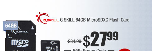 G.SKILL 64GB MicroSDXC Flash Card