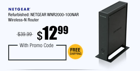 Refurbished: NETGEAR WNR2000-100NAR Wireless-N Router