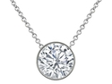 3.00ctw Diamond Cut White Topaz Set In Sterling Silver