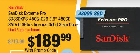 "SanDisk Extreme Pro SDSSDXPS-480G-G25 2.5"" 480GB SATA 6.0Gb/s Internal Solid State Drive"