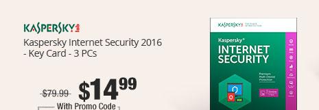 Kaspersky Internet Security 2016 - Key Card - 3 PCs