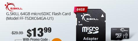 G.SKILL 64GB microSDXC Flash Card (Model FF-TSDXC64GA-U1)