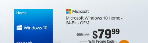 Microsoft Windows 10 Home - 64-Bit - OEM