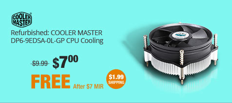 Refurbished: COOLER MASTER DP6-9EDSA-0L-GP CPU Cooling