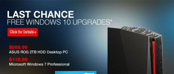Last Chance: Upgrade to Windows 10 at No Cost