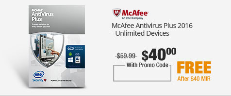 McAfee Antivirus Plus 2016 - Unlimited Devices
