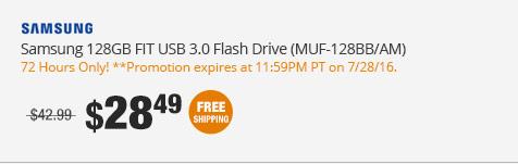 Samsung 128GB FIT USB 3.0 Flash Drive (MUF-128BB/AM)
