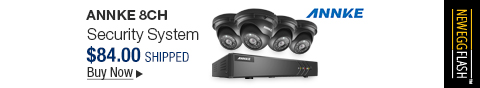 Newegg Flash � ANNKE 8CH 1080N TVI DVR Recorder Security System with 4x 960P 1.3Megapixels Day Night Weatherproof CCTV Cameras, Easy Remote Web / Mobile Access Weatherproof