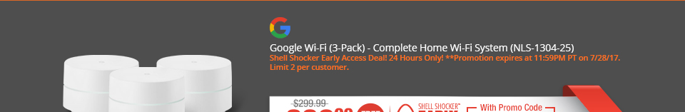 Google Wi-Fi (3-Pack) - Complete Home Wi-Fi System (NLS-1304-25)