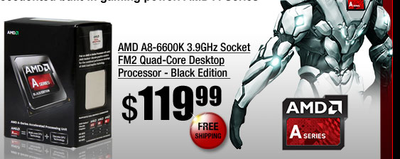AMD A8-6600K 3.9GHz Socket FM2 Quad-Core Desktop Processor - Black Edition