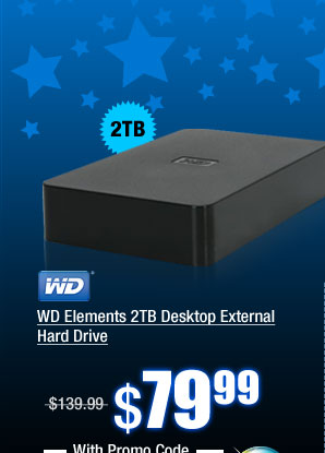 WD Elements 2TB Desktop External Hard Drive