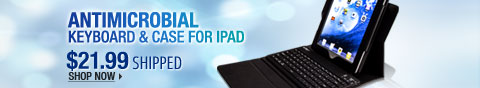 Newegg Flash - Antimicrobial Keyboard & Case for iPad.