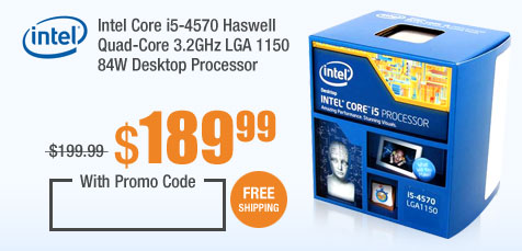 Intel Core i5-4570 Haswell Quad-Core 3.2GHz LGA 1150 84W Desktop Processor