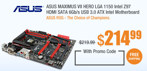 ASUS MAXIMUS VII HERO LGA 1150 Intel Z97 HDMI SATA 6Gb/s USB 3.0 ATX Intel Motherboard