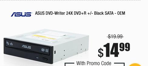 ASUS DVD-Writer 24X DVD+R +/- Black SATA - OEM